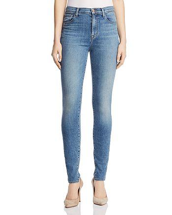 ce611b021fe56 J Brand - Carolina Super High Rise Skinny Jeans in Delphi