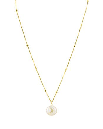 Argento Vivo - Moon Mother-of-Pearl Pendant Necklace, 16""