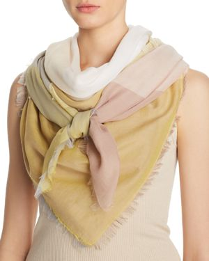 ABSTRACT COLOR BLOCK SCARF - 100% EXCLUSIVE