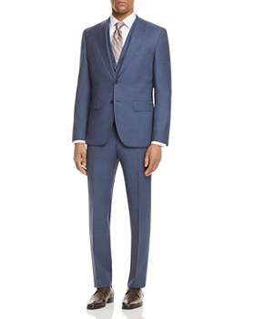 BOSS - Micro Birdseye Regular Fit 3-Piece Suit
