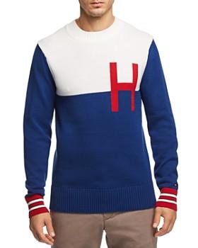 Tommy Hilfiger - Color-Blocked Logo Crewneck Sweater