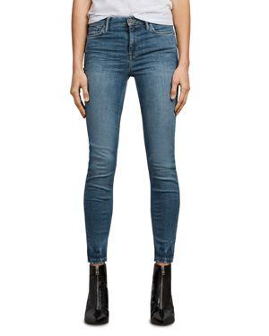 Allsaints Grace Ankle Skinny Jeans in Fresh Blue 2734663