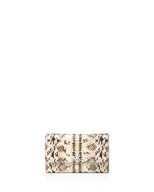 Michael Michael Kors Medium Embossed Leather Carryall Wallet 2899062