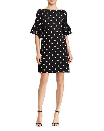 Ralph Lauren - Petites Bell-Sleeve Polka-Dot Dress