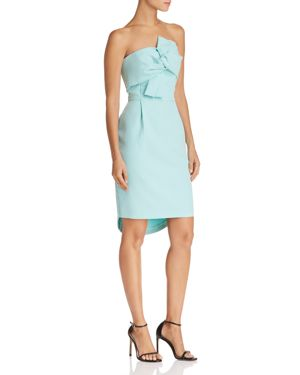 ADELYN RAE Krissy Twist Front Strapless Dress, Mint
