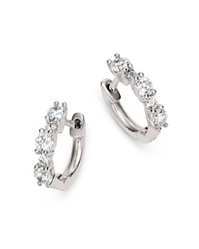 Bloomingdale's - Diamond Mini Huggie Hoops in 14K White Gold, 0.50 ct. t.w. - 100% Exclusive