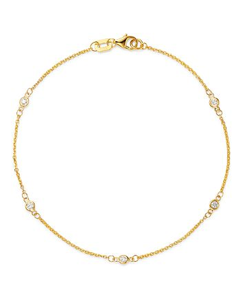 Bloomingdale's - Diamond Station Bracelet in 14K Yellow Gold, 0.10 ct. t.w. - 100% Exclusive