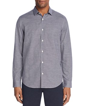 Theory - Murrary Micro Gingham Regular Fit Button-Down Shirt
