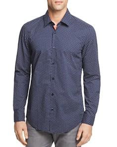 BOSS Lukas Dot Print Button-Down Shirt - Bloomingdale's_0