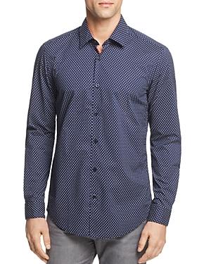 Boss Lukas Dot Print Button-Down Shirt