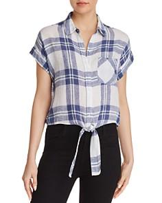 Rails - Amelie Front-Tie Plaid Shirt