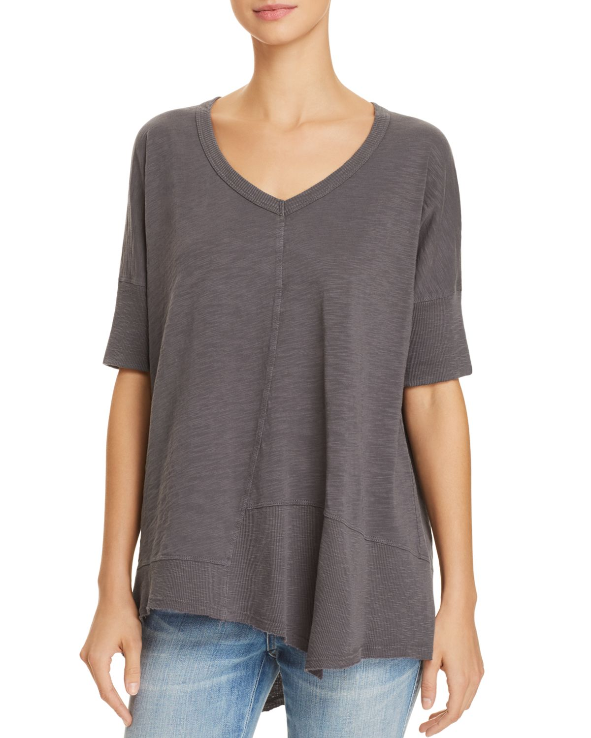Asymmetric Seamed Tee by Wilt