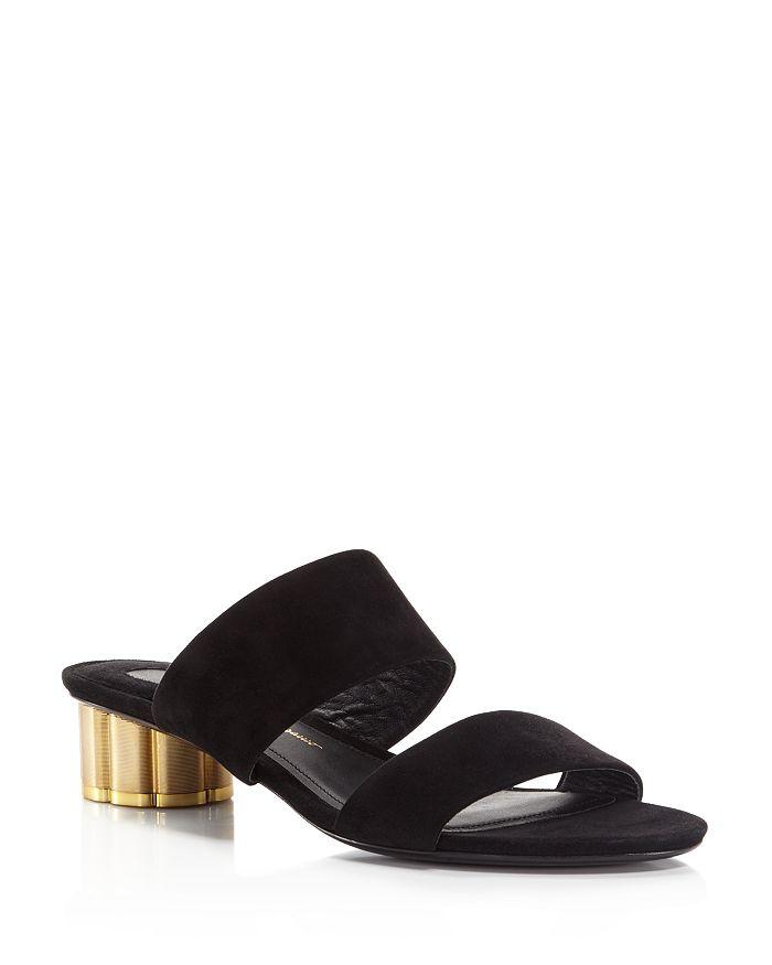 ed37a614bf6 Salvatore Ferragamo Women s Belluno Floral Heel Slide Sandals ...