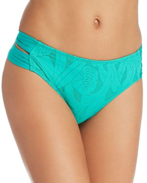 ATHENA All Dressed Up Double Strap Hipster Bikini Bottom in Jade Green