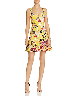 French Connection Linosa Floral-Print A-Line Mini Dress