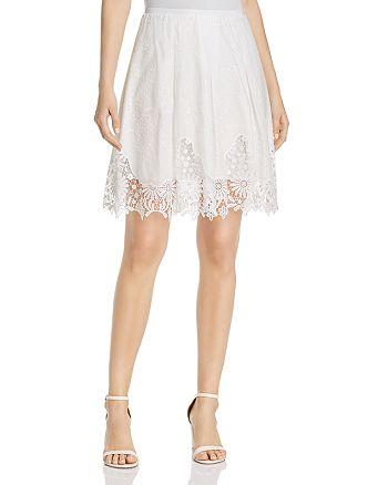 T Tahari - Salina Embroidered Lace Skirt