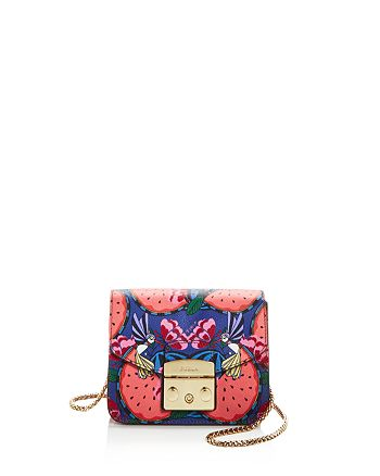 Furla - Metropolis Mini Watermelon Print Leather Crossbody