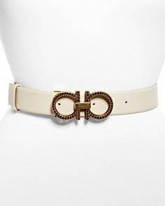 Salvatore Ferragamo New Gancini Chain Leather Belt - Bloomingdale's_0
