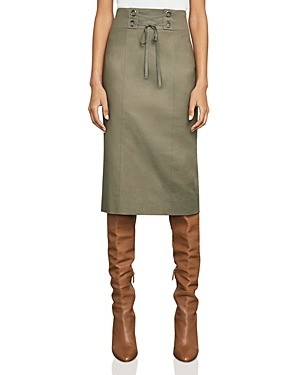 Bcbgmaxazria Briza Lace-Up Pencil Skirt