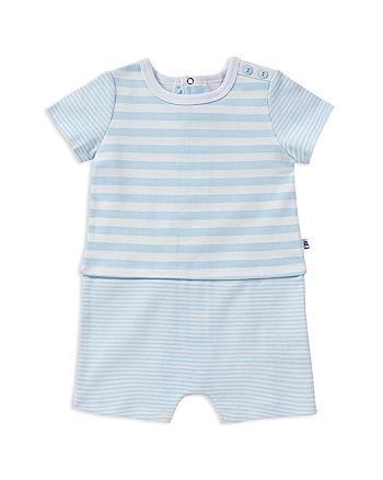 Absorba - Boys' Contrast Striped Cotton Romper - Baby