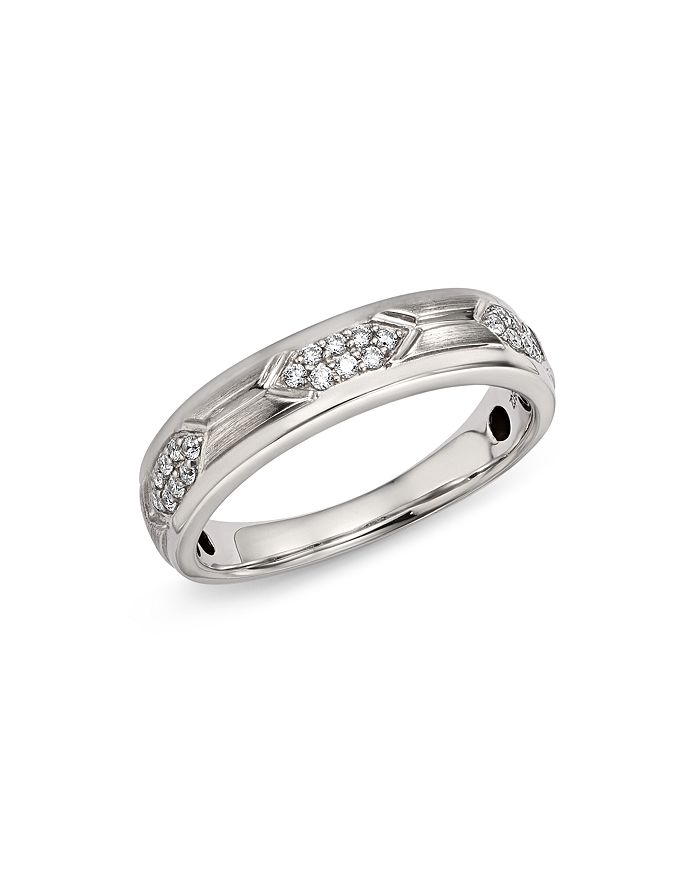 Bloomingdale's - Men's Diamond Band Ring in 14K White Gold, 0.25 ct. t.w. - 100% Exclusive