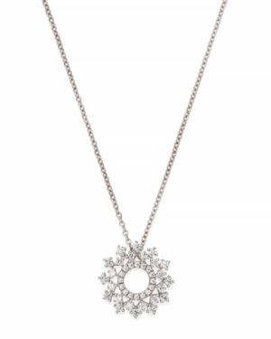 Bloomingdale's Diamond Circle Pendant Necklace in 14K White Gold, 0.50 ct. t.w. - 100% Exclusive