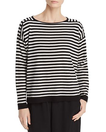 Eileen Fisher - Striped Cashmere Sweater