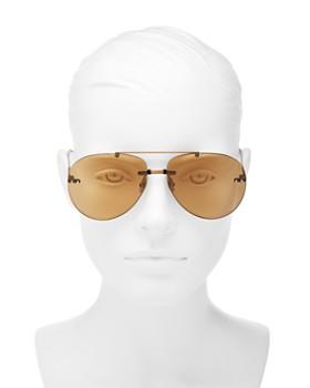 Bottega Veneta - Women's Brow Bar Rimless Aviator Sunglasses, 63mm