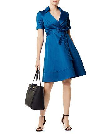d82825448ecef3 KAREN MILLEN - Belted Trench Dress - 100% Exclusive