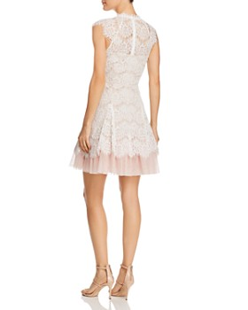 AQUA - Lace Fit-and-Flare Dress - 100% Exclusive