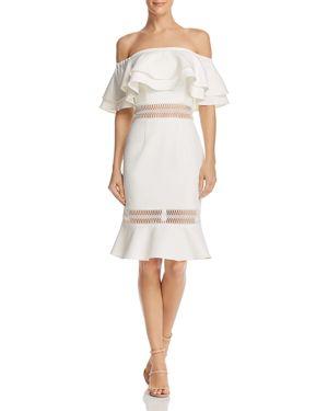 JARLO Jazzmyn Off-The-Shoulder Dress - 100% Exclusive in Ivory