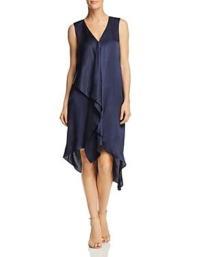 Adrianna Papell Asymmetric Drape Dress