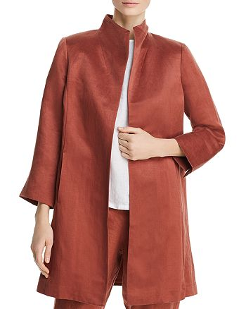 Eileen Fisher - Stand Collar Coat
