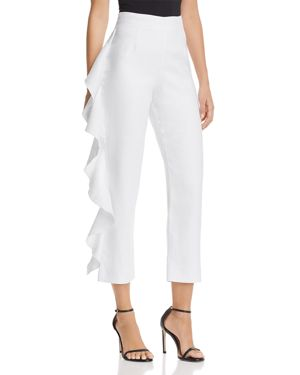MARCUS CROPPED RUFFLED PANTS