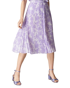 Whistles Batik Lily Pleated Skirt