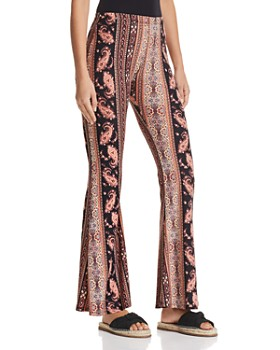 PPLA - Floral-Print Bell Bottoms - 100% Exclusive