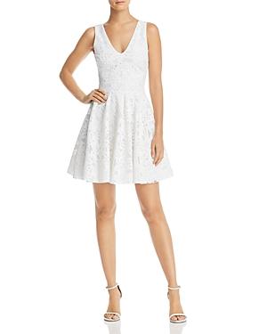 Aqua Floral Mesh Fit-and-Flare Dress - 100% Exclusive