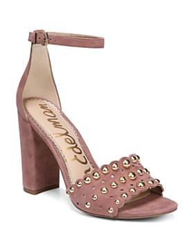 Sam Edelman - Women's Yaria Studded Suede Block Heel Sandals