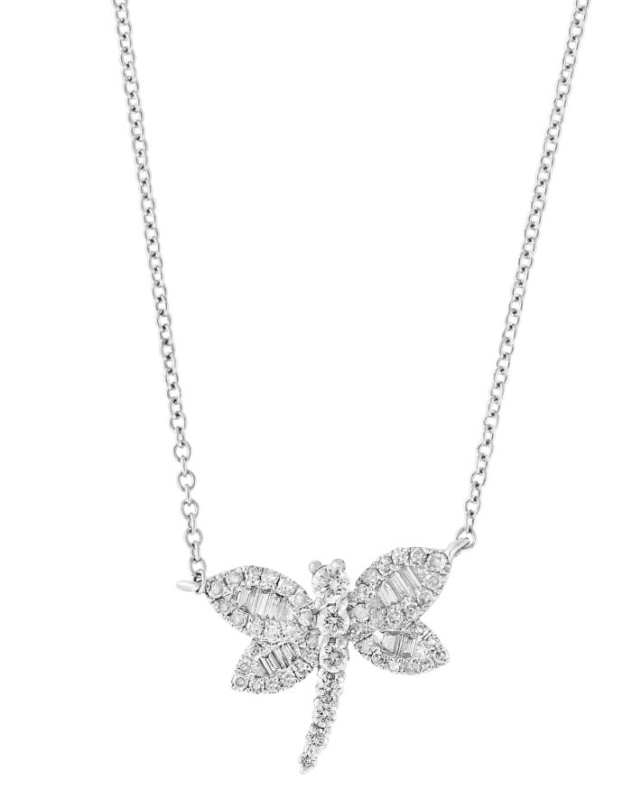 Bloomingdale's Diamond Dragonfly Pendant Necklace in 14K White Gold, 0.40 ct. t.w. - 100% Exclusive   | Bloomingdale's