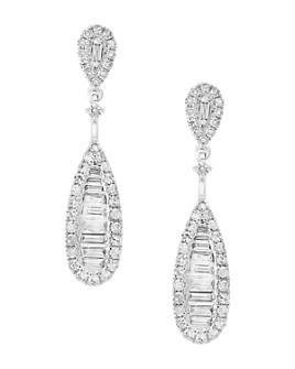 Bloomingdale's - Diamond Baguette Teardrop Earrings in 14K White Gold, 0.60 ct. t.w. - 100% Exclusive