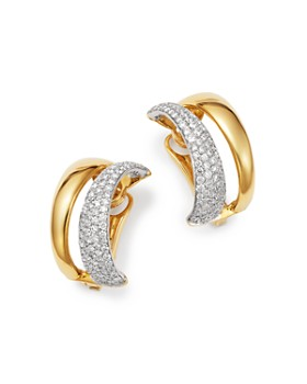 Roberto Coin 18k White Yellow Gold Scalare Convertible Diamond Earrings