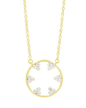 Freida Rothman Fleur Bloom Pave Hoop Pendant Necklace, 16-Jewelry & Accessories