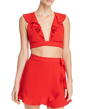 32d54c705aa204 Show Me Your Mumu Florence Crop Top In Tomato Red Pebble