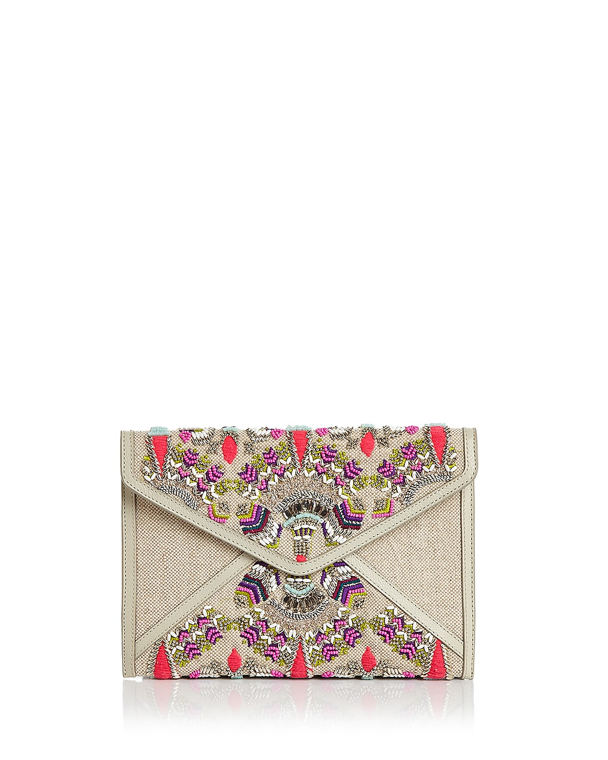 Outlet Best Place Clearance Enjoy Rebecca Minkoff Leo Beaded Clutch In China Cheap Online 100% Authentic For Sale rNGH0PV