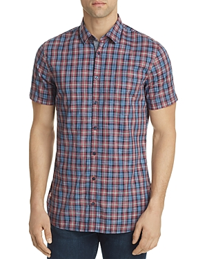Boss Orange Cattitude Plaid Regular Fit Button-Down Shirt