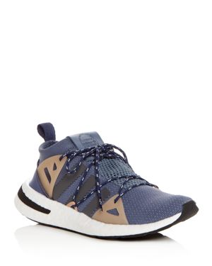 Arkyn Colorblock Mesh Sneakers, Raw Steel/Ash/Pearl Gray in Blue