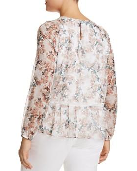 GLAMOROUS CURVY - Floral-Print Peplum Top