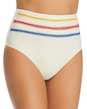 Dolce Vita Kokomo Embroidered High Waist Bikini Bottom-Women