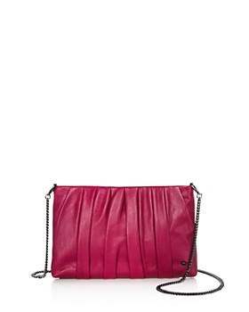 HALSTON HERITAGE - Grace Ruched Leather Clutch HALSTON HERITAGE - Grace  Ruched Leather Clutch. Quick View 102b74908c4b2