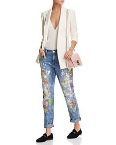True Religion - Cameron Boyfriend Jeans in Pop Art Paint